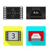 Oggetto isolato del segno di contaminazione e della televisione Metta della televisione e del simbolo di riserva d'esame per il w illustrazione vettoriale
