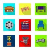 Oggetto isolato del segno di contaminazione e della televisione Raccolta della televisione e dell'illustrazione di riserva d'esam royalty illustrazione gratis