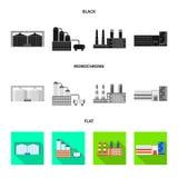 Oggetto isolato del simbolo della struttura e di produzione Raccolta di produzione e dell'illustrazione di vettore dello stock te illustrazione vettoriale