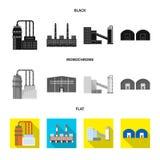 Oggetto isolato del simbolo della struttura e di produzione Raccolta di produzione e del simbolo di stock tecnologico per il web illustrazione vettoriale