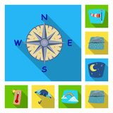 Oggetto isolato del simbolo di clima e del tempo Insieme dell'illustrazione di riserva di vettore della nuvola e del tempo illustrazione di stock