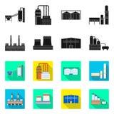 Oggetto isolato dell'icona della struttura e di produzione Metta di produzione e dell'illustrazione di vettore dello stock tecnol royalty illustrazione gratis