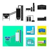 Oggetto isolato dell'icona della struttura e di produzione Metta dell'icona di vettore della tecnologia e di produzione per le az royalty illustrazione gratis