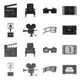 Oggetto isolato dell'icona di contaminazione e della televisione Metta della televisione e dell'icona d'esame di vettore per le a illustrazione di stock