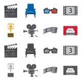 Oggetto isolato dell'icona di contaminazione e della televisione Raccolta della televisione e del simbolo di riserva d'esame per  illustrazione di stock