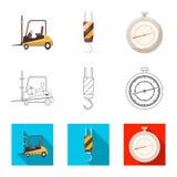 Oggetto isolato delle merci e del segno del carico Insieme delle merci e del simbolo di riserva del magazzino per il web royalty illustrazione gratis