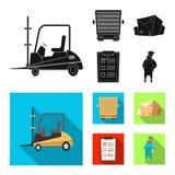 Oggetto isolato delle merci e del segno del carico Raccolta delle merci e dell'illustrazione di riserva di vettore del magazzino illustrazione di stock
