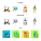 Oggetto isolato delle merci e del segno del carico Raccolta delle merci ed icona di vettore del magazzino per le azione illustrazione di stock