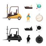 Oggetto isolato delle merci e del segno del carico Raccolta delle merci ed icona di vettore del magazzino per le azione royalty illustrazione gratis