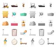 Oggetto isolato delle merci e dell'icona del carico Raccolta delle merci e del simbolo di riserva del magazzino per il web illustrazione vettoriale
