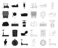 Oggetto isolato delle merci e dell'icona del carico Raccolta delle merci e del simbolo di riserva del magazzino per il web royalty illustrazione gratis