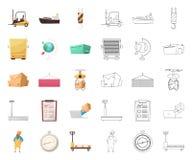 Oggetto isolato delle merci e dell'icona del carico Raccolta delle merci e del simbolo di riserva del magazzino per il web illustrazione di stock