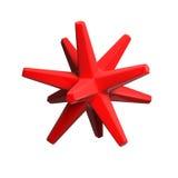 Oggetto lucido rosso Fotografia Stock