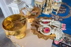 Oggetto nella cerimonia di nozze tailandese Fotografia Stock