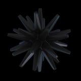 Oggetto nero della stella Fotografia Stock Libera da Diritti