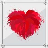 Oggetto rosso in forma di cuore Fotografia Stock