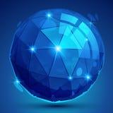 Oggetto sferico complicato pixilated di plastica 3d Fotografie Stock
