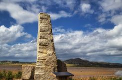 Ogham sten, Carrickart, Co Donegal Irland arkivbild