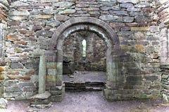 Ogham Stone In Old Church, Ireland