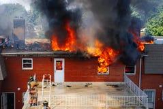 ogień 2 dom zdjęcia royalty free