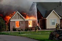 ogień 4 dom Zdjęcia Royalty Free