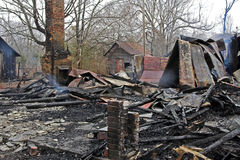ogień 5 dom Zdjęcia Royalty Free