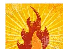 ogień abstrakcyjne tło Obrazy Stock