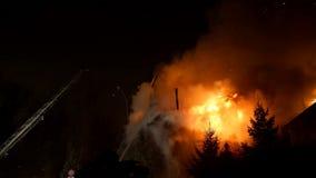 ogień Blask jatki spalanie i pożoga Obraz Royalty Free