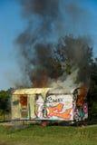 Ogień budowy przyczepa Okręg Marzahn-Hellersdorf Obrazy Stock