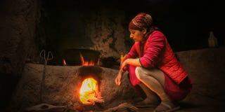 Ogień jest czerwony fotografia stock