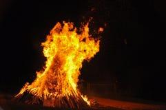 Ogień, niebezpieczeństwo, palacz Obrazy Stock