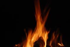 Ogień odizolowywający na czerń Obrazy Royalty Free