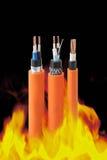 Ogień - odporni kable zdjęcie royalty free