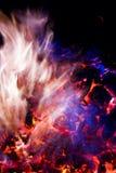 ogień płonący purpury blue Fotografia Royalty Free