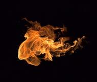 Ogień płonie kolekcję Obraz Royalty Free