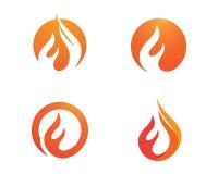 Ogień płonie loga szablon Zdjęcia Royalty Free