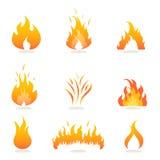 ogień płonie znaki Zdjęcie Stock