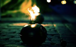 Ogień po północy Obraz Royalty Free