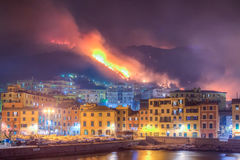 Ogień powodować suszą Obrazy Royalty Free