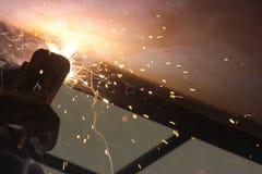 Ogień pracy fotografia stock