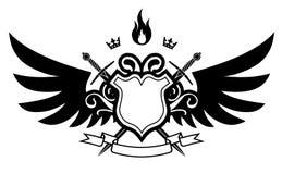 ogień skrzydła Zdjęcie Royalty Free