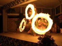 ogień tańca nóż Zdjęcia Royalty Free