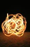 ogień tancerkę. Zdjęcie Stock