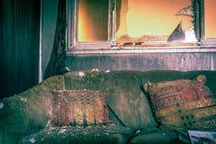 Ogień Uszkadzający meble zdjęcia royalty free