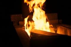 Ogień w brązowniku Obraz Stock
