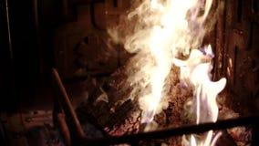 Ogień w kominie zbiory