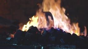 Ogień w kuźni zbiory wideo