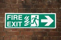 ogień znaku wyjścia Zdjęcie Royalty Free