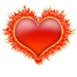 ogień 1 serce Zdjęcie Stock