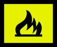 ogień 2 znak Obrazy Royalty Free
